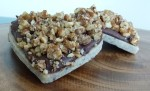 rohe Macadamia Kekse, nougat und pecan crunch