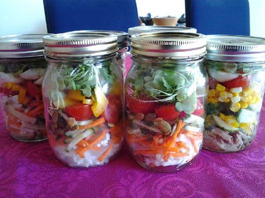 gut gepackt hält sich der Salat 4-5 Tage im Kühlschrank
