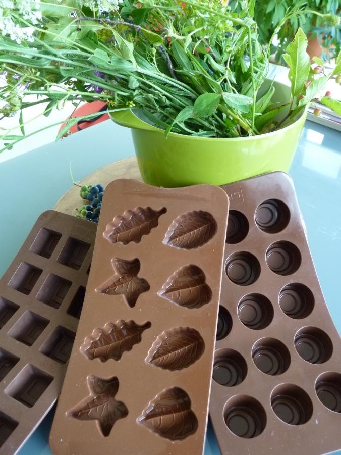 meine lLieblingsformen für Schokolade aus Silikon