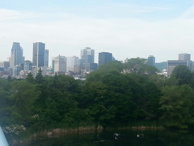 skyline montreal from formel 1 June 2014