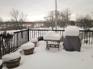 balkon im schnee montreal
