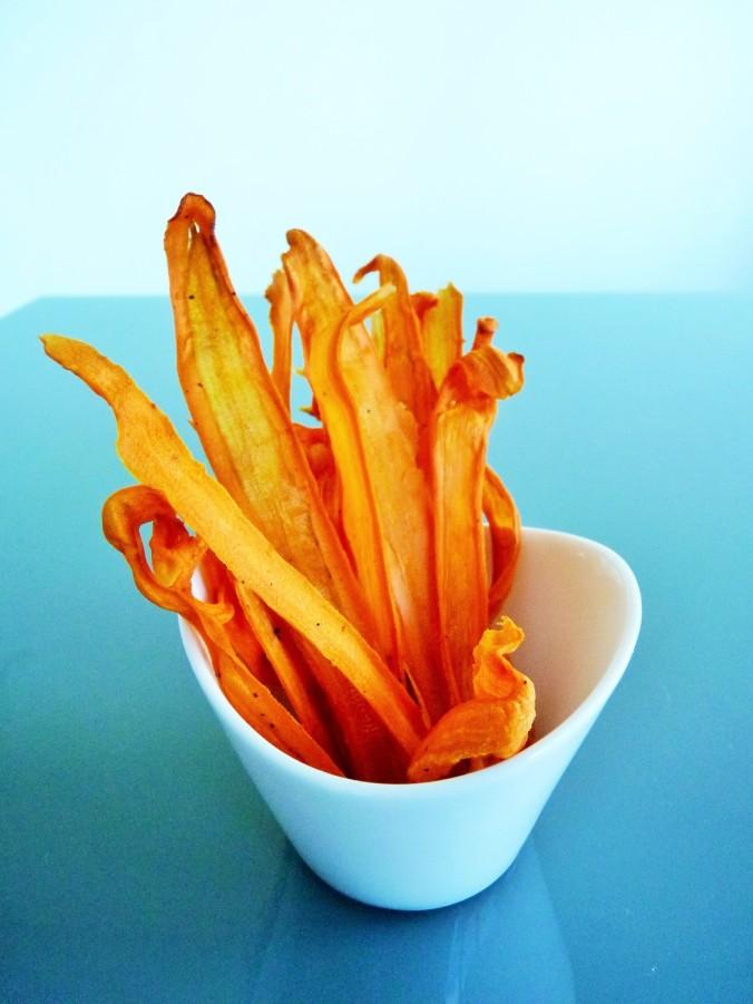 knusprige Karotten Chips