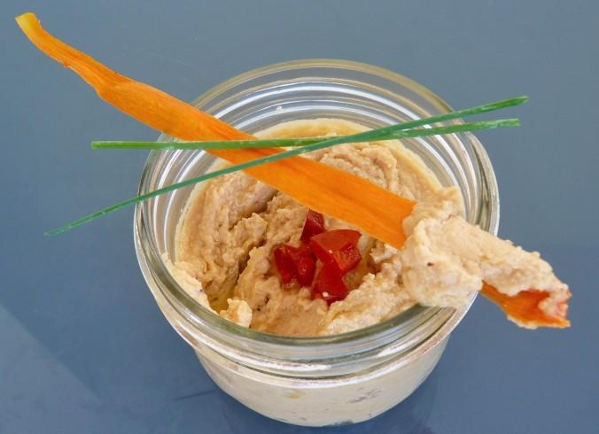 dazu schmecken auch die knusprigen Karotten Chips sehr gut