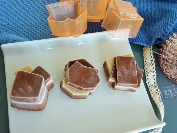 diese Schokofiguren kommen direkt aus der Tiefkühltruhe und brauchen 30 min zum Auftauen......so köstlich...