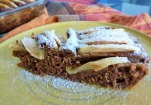 Apfelkuchen mit Kokosmilchpulver als Puderzucker