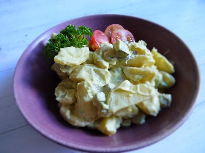 Kartoffelsalat mit veganer Mayo ohne Soja