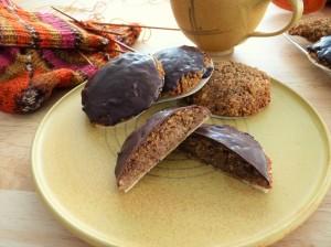 saftige Lebkuchen mit Schoko