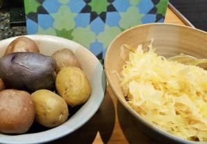 Sauerkraut mir Pellkartoffeln