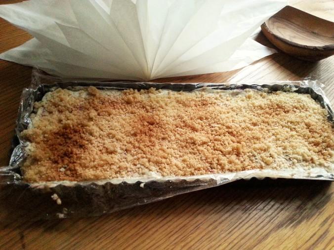 Zwetschgenkuchen in rechteckiger Form